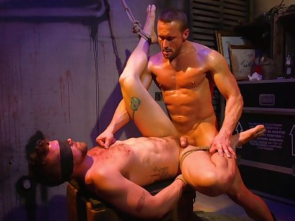 Two best friend gay lovers enjoy helpless sex with spanking