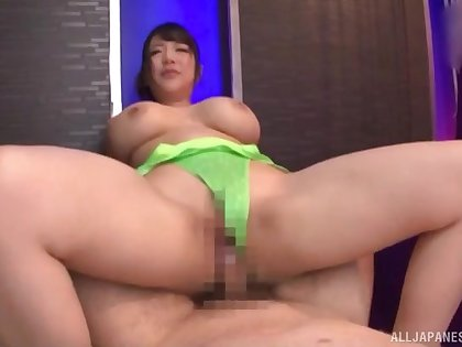 In the pussy is where this busty Japanese loves it the most
