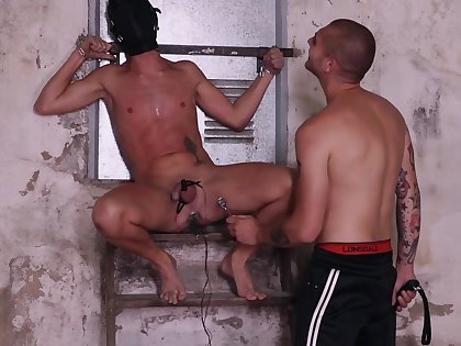 Obedient twink ends up clamped and ass fucked