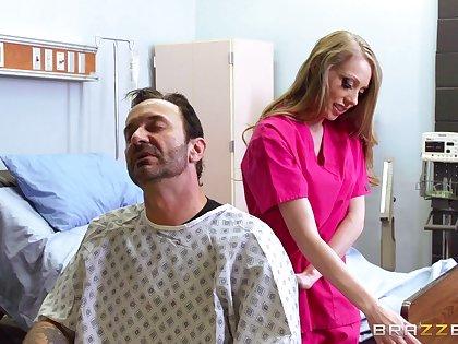 Sexy blonde nurse Shawna Lenee with amazing fake tits fucked