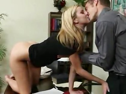 Jessie Rogers Blonde Secretary Loves To fuck