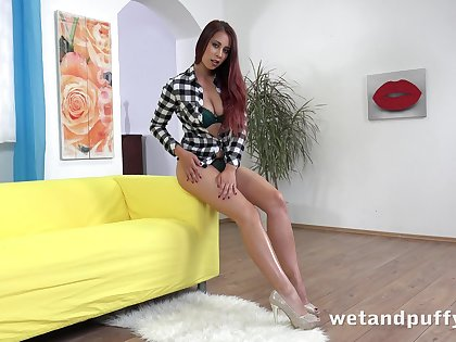 Feeling extremely horny alone nympho Christy Charming exposes swag during solo