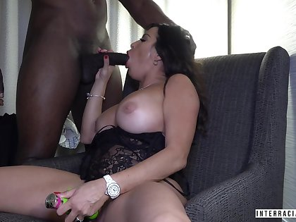 Toy addicted lady Julianna Vega merely loves topping fat big moonless blarney