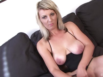 Hardcore interracial anal mating with dirty blonde model Luci Angel