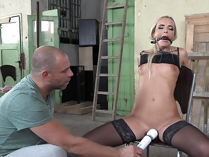 Pleasure and agony be worthwhile for submissive blonde beauty Victoria Pure