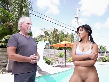 Quite fabulous for this old man to fuck such a hot beauty