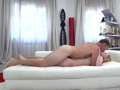Girl is in man's porn studio for someone's skin sake be required of anal banging