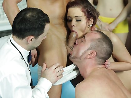 Anal orgy for bi-sexual lovers with regard to dishonest jock scenes